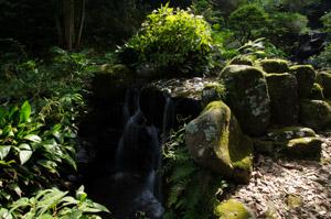 伊豆半島東伊豆の伊東市松原の丸山公園の清流
