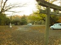 一碧湖駐車場入口の写真