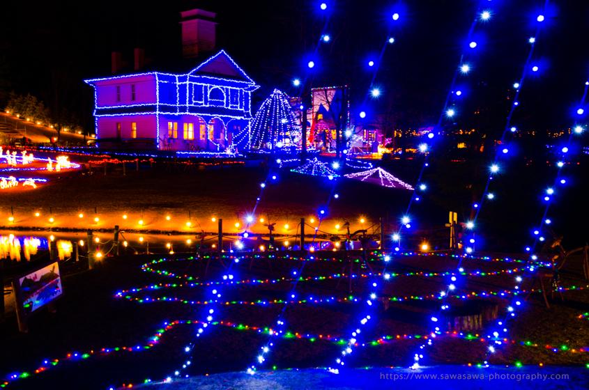 伊豆半島中伊豆の伊豆市修善寺虹の郷のクリスマスナイト