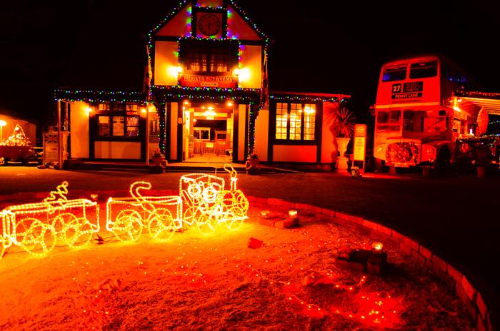 伊豆半島中伊豆の伊豆市修善寺虹の郷のクリスマスナイトの広場