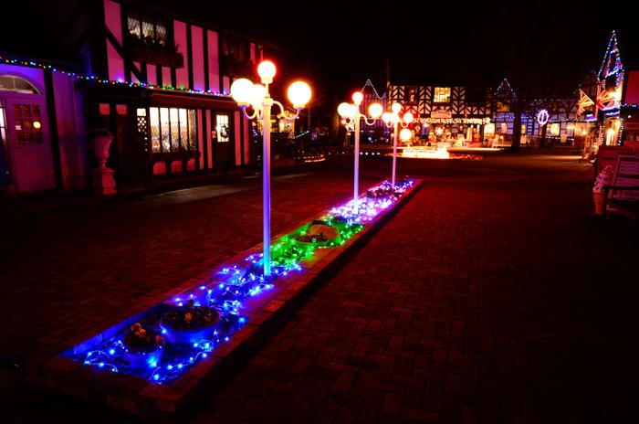 伊豆半島中伊豆の伊豆市修善寺虹の郷のクリスマスナイトの入口付近