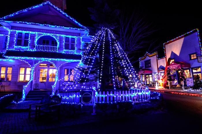 伊豆半島中伊豆の伊豆市修善寺虹の郷のクリスマスナイト夜の店