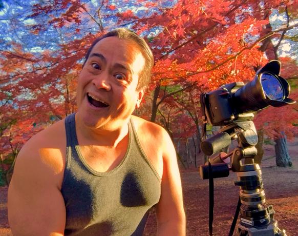 さわさわの自撮り写真、わぁ!